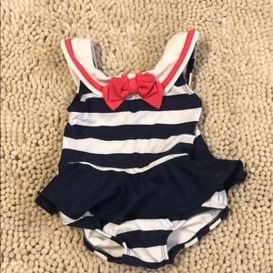 Navy Striped Sailor Swimsuit